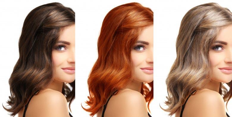 رنگ کردن موها بعد از انتخاب رنگ