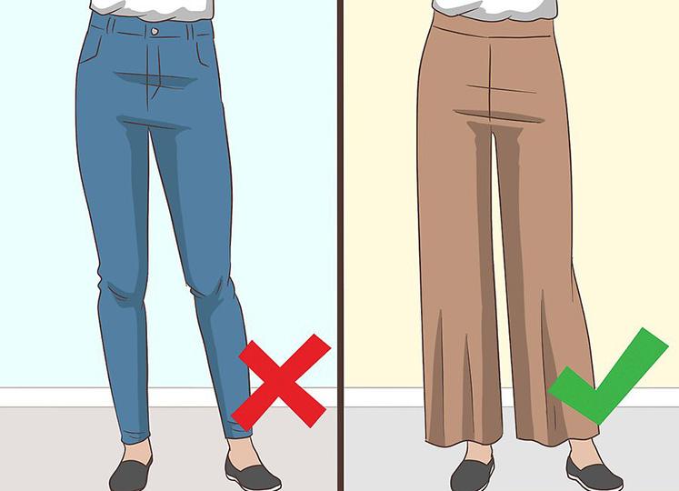 پوشیدن لباس شل و راحت