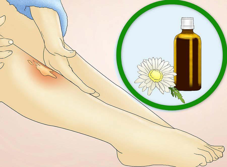 استفاده از از روغن بابونه برای کاهش التهاب
