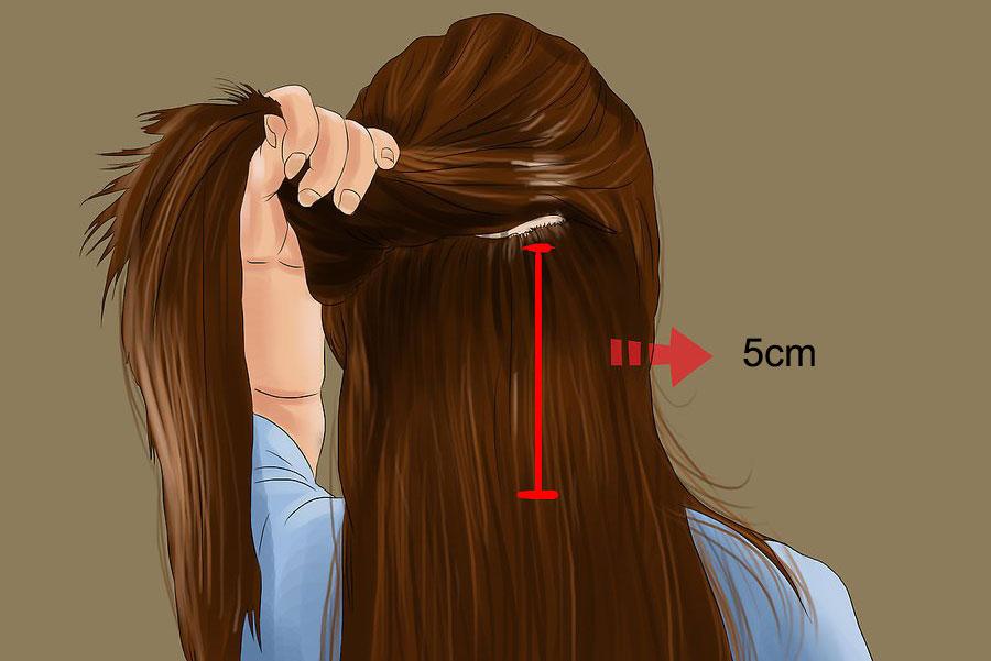 موهای خود را در پایه بخش بندی کنید