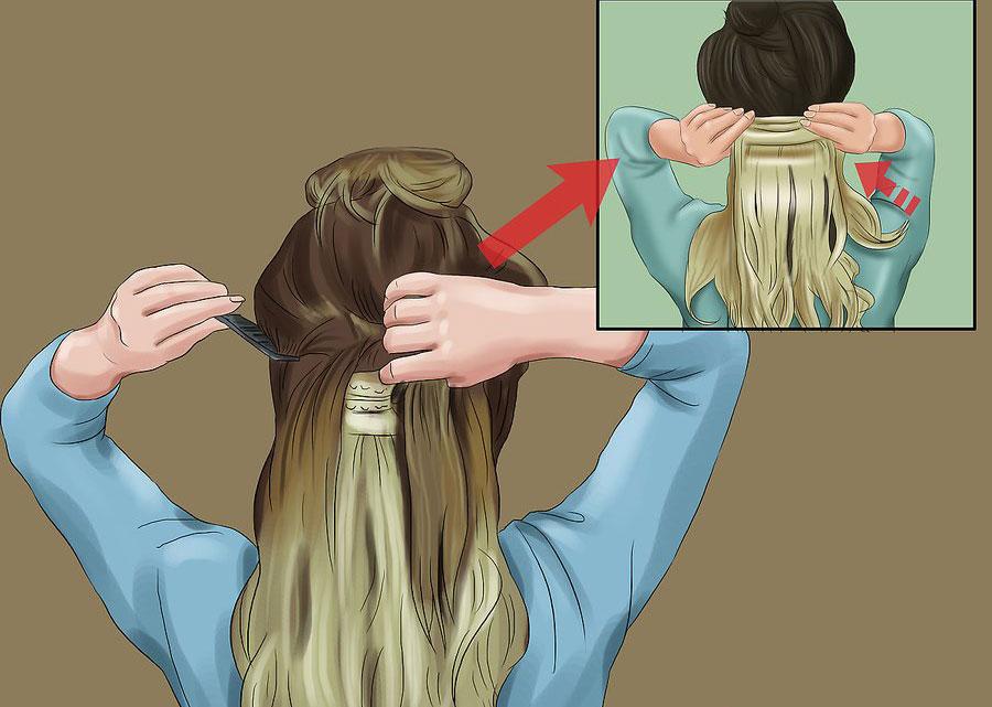 رها کردن بخش دم اسبی مو