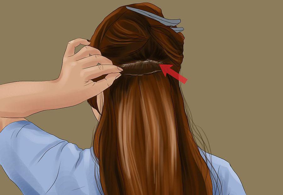 وصل کردن یک رشته اکستنشن مو