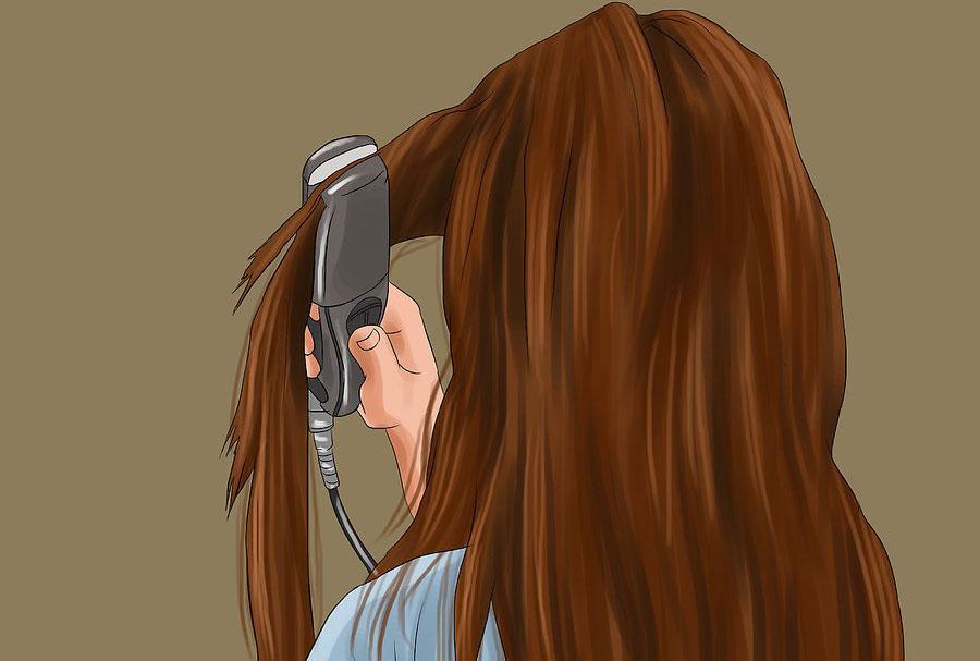 استفاده از اتو مو برای وصل کردن اکستنشن