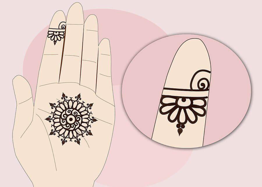 کشیدن خط مارپیچی روی انگشت