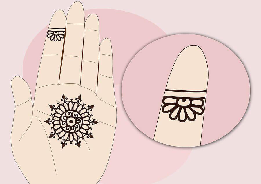 کشیدن گل روی انگشت
