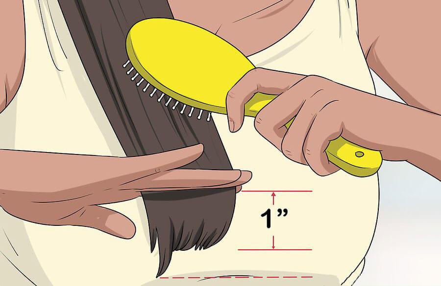 شانه کردن موها بعد از کوتاهی