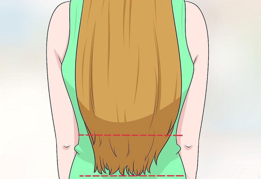 طولی که می خواهید برای کوتاه کردن اکستنشن مو به آن برسید را انتخاب کنید