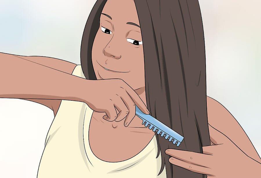ترکیب کردن موها با قیچی پیتاژ