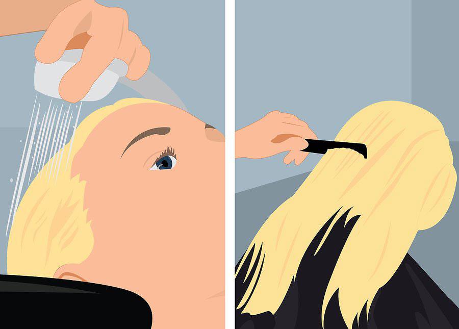 شستن موها و خشک کردن آن