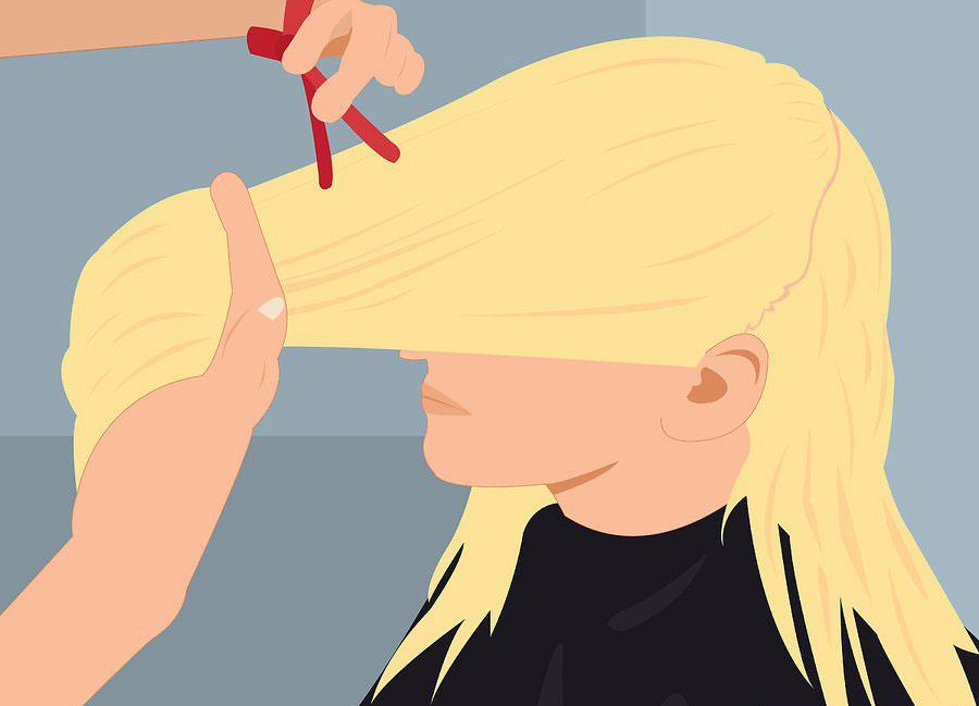 تقسیم بندی موها به دو بخش