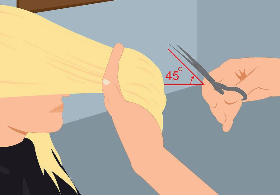 کوتاه کردن موها با زاویه صحیح