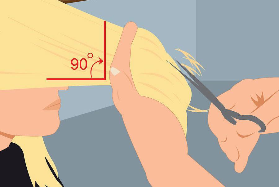 کوتاه کردن قسمت بالای جلو مو