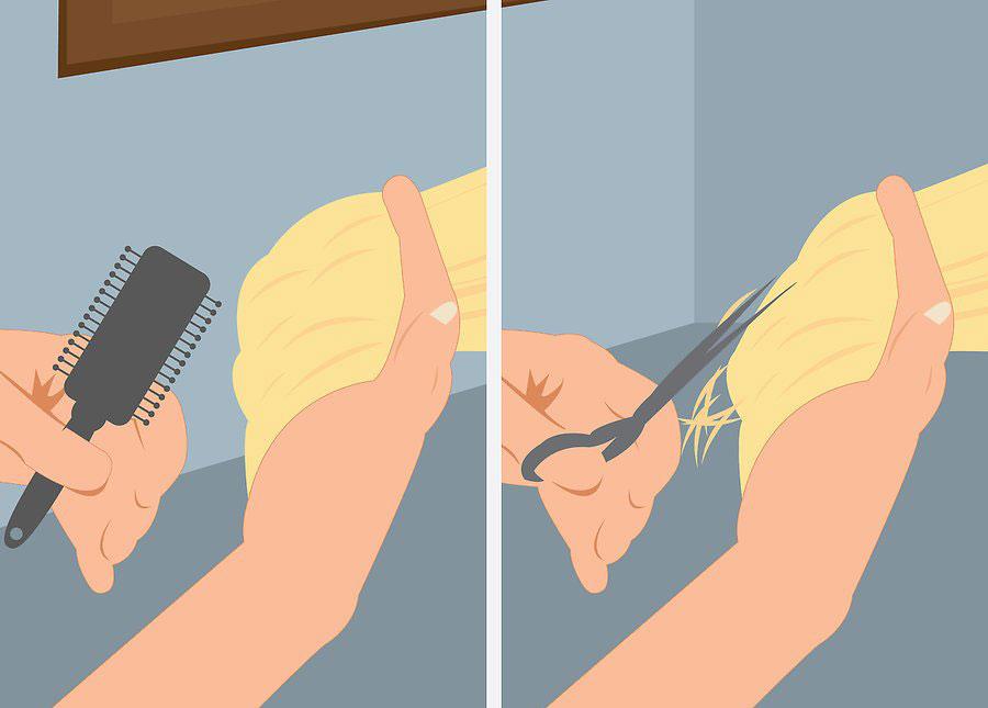 کوتاه کردن بخش باقی مانده جلوی مو