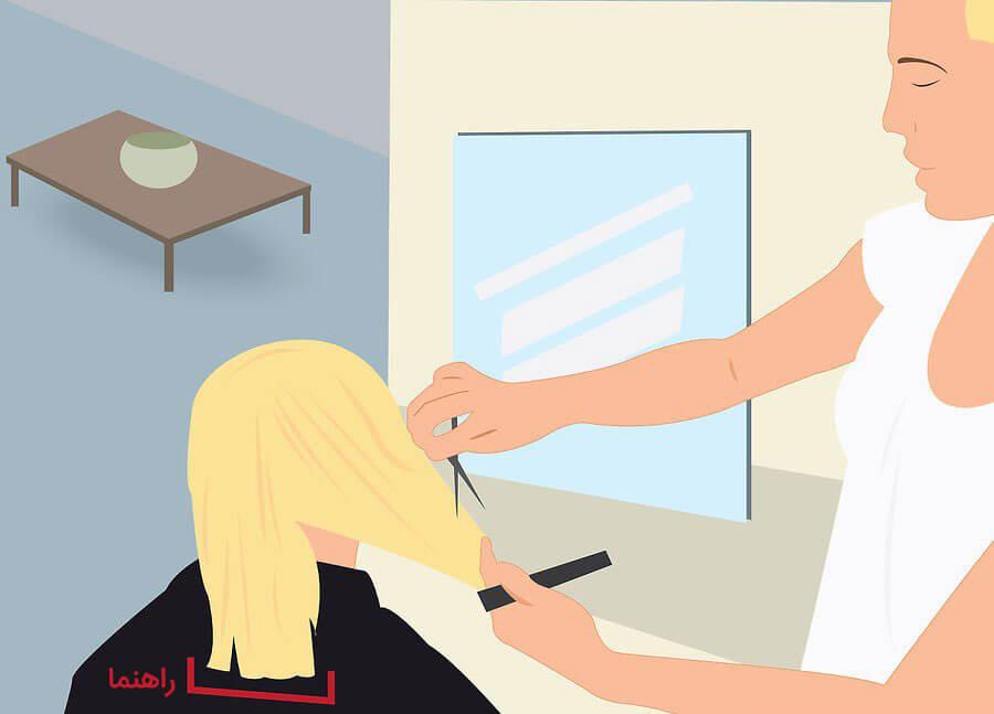 کوتاه کردن اطراف موها
