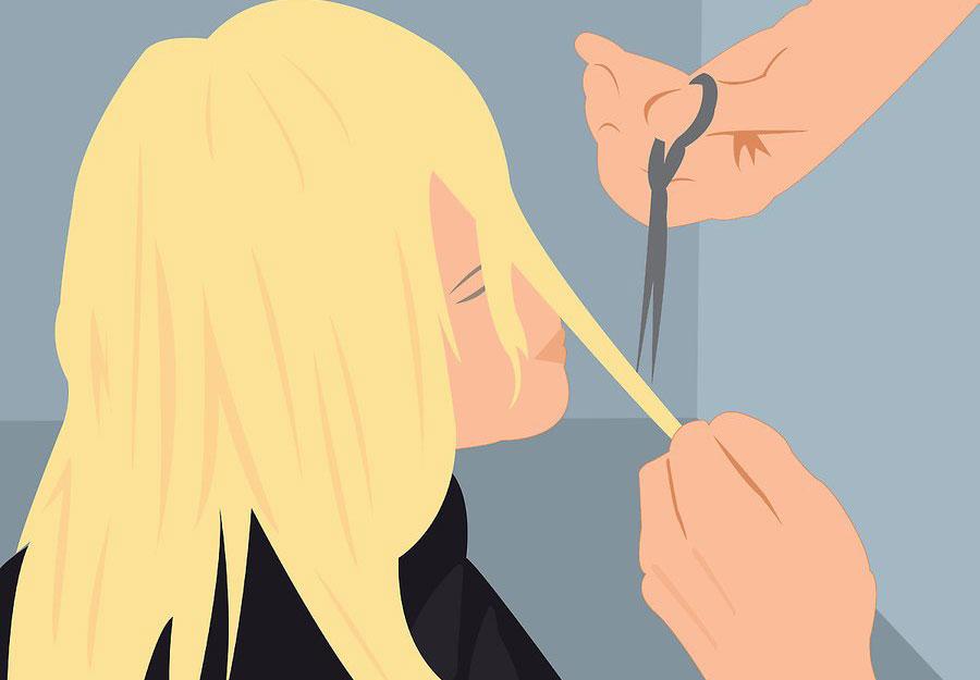 کوتاه کردن بخش جلویی مو