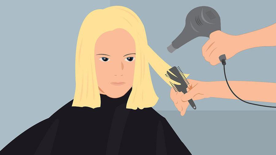 خشک کردن موها با سشوار