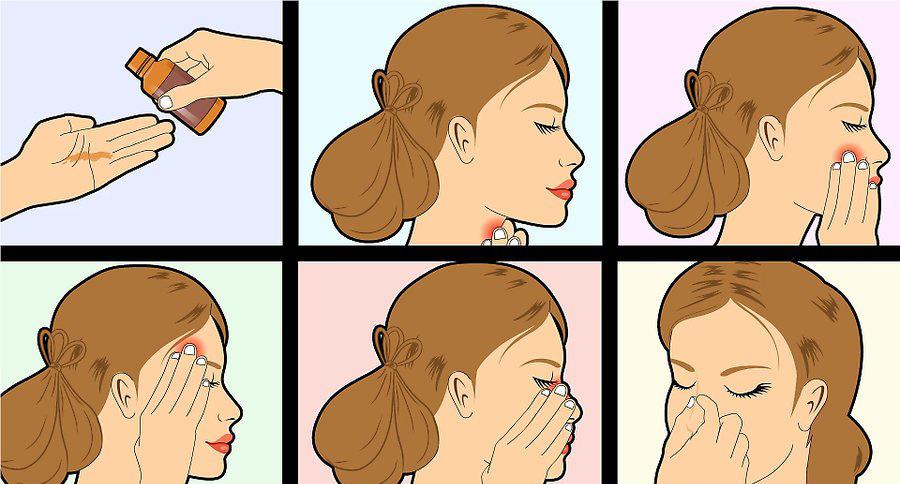 ماساژ دادن بینی