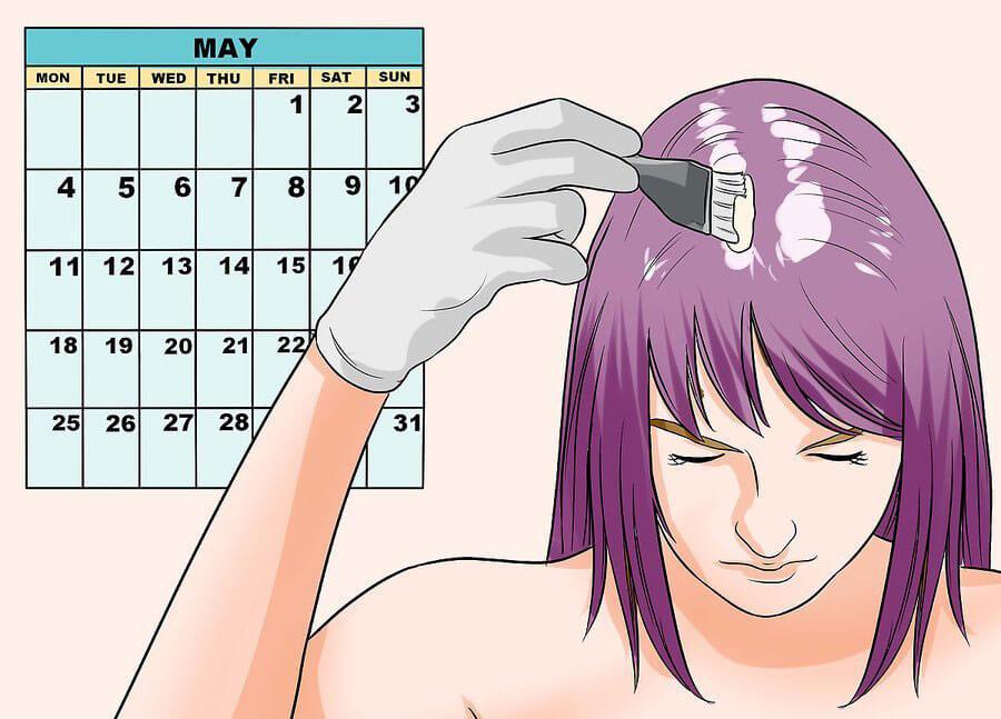 تکرار رنگ مو