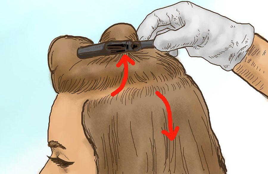 بخش بندی کردن موها