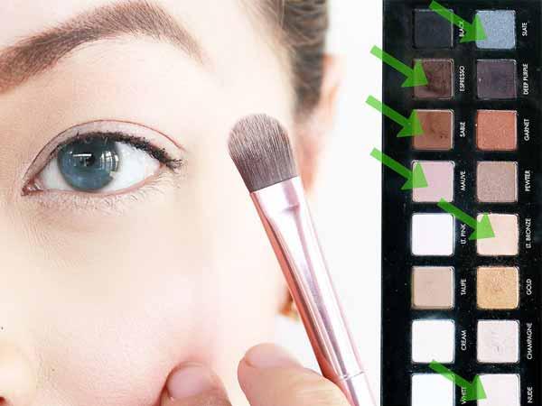 انتخاب سایه مناسب چشم آبی یا خاکستری